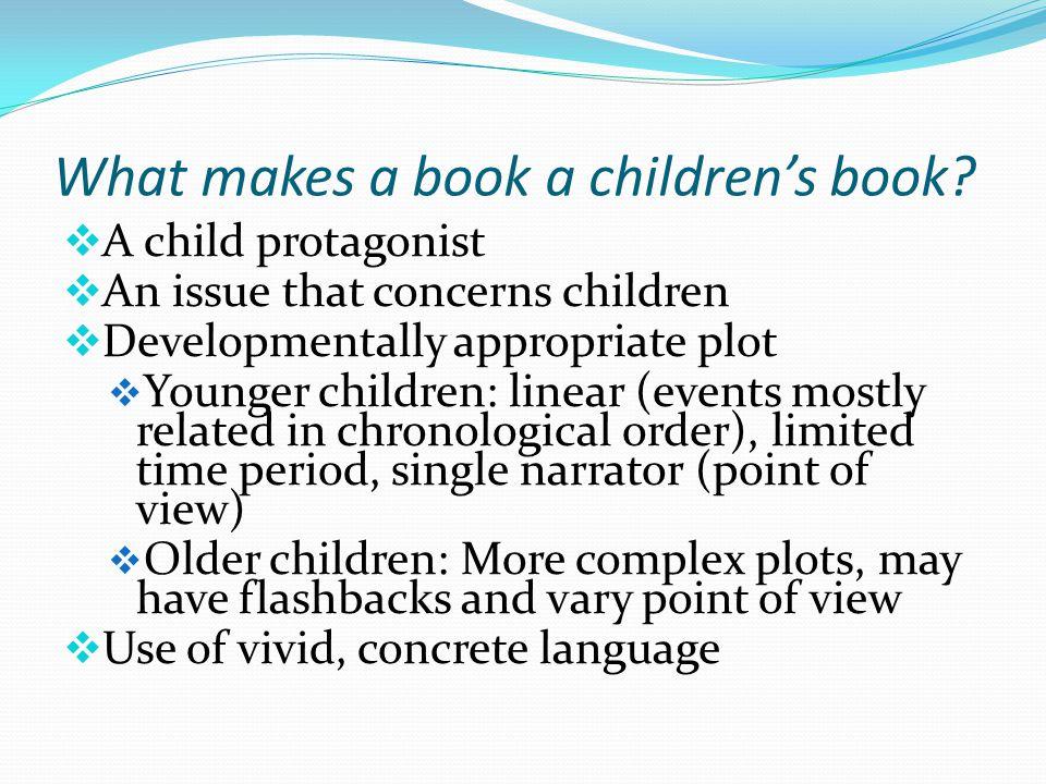 What makes a book a children's book.