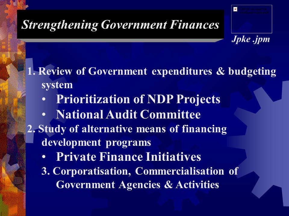 EMPHASIS IN THE EIGHTH NATIONAL DEVELOPMENT PLAN (2001 - 2005) Jpke.jpm