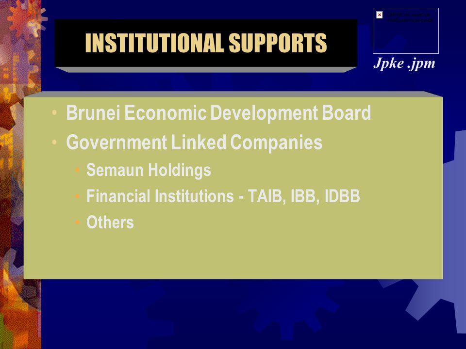 1.Brunei International Financial Center** 2.Tourism Industry** 3.Transshipment** 4.ICT** 5.Halal Food** 6.Oil & Gas Related Activities** Jpke.jpm Deve
