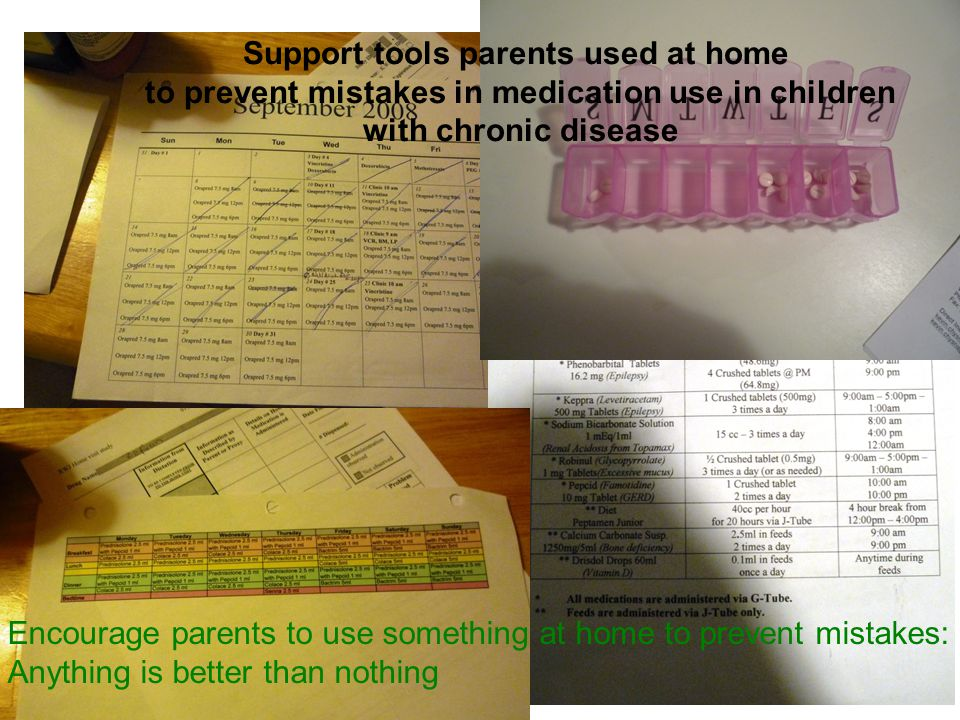 Parent use of support tools associated with significantly less errors No supportsSupports At least one error at home 1914 No error 118 * X2=13.9 (p=0.0002)