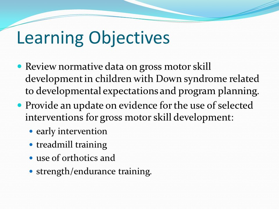 Varying Development with DS How variable is development in children with DS.