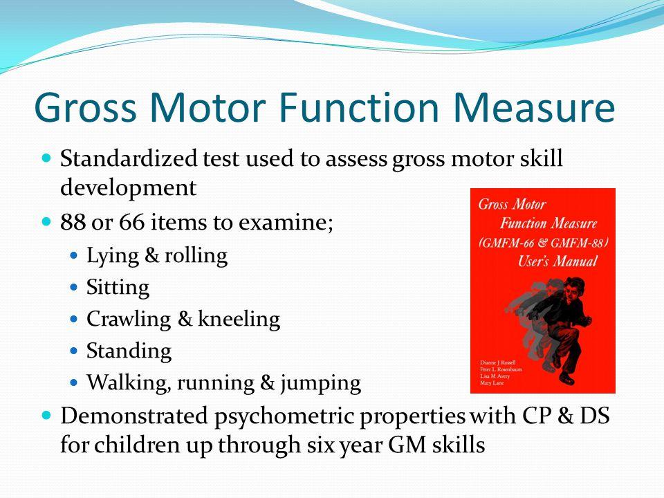 GMFM Data for Typically Developing Children