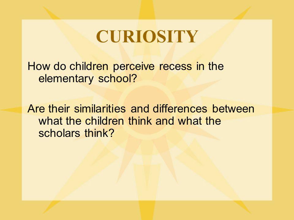 CURIOSITY How do children perceive recess in the elementary school.