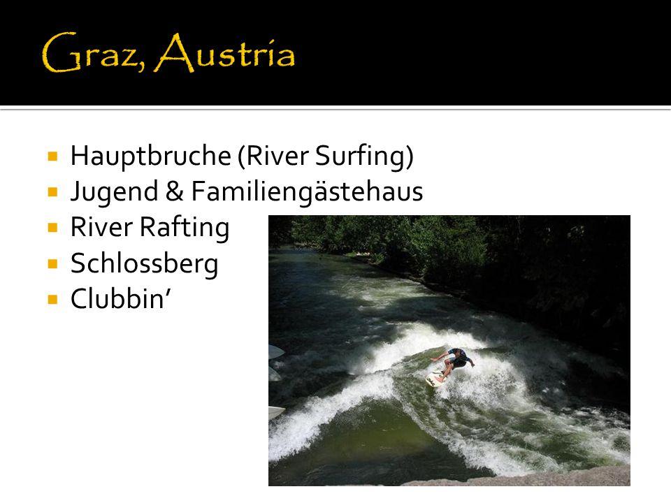 Hauptbruche (River Surfing)  Jugend & Familiengästehaus  River Rafting  Schlossberg  Clubbin'