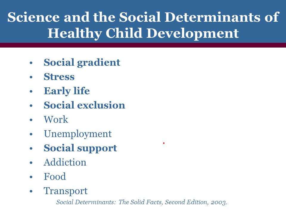 Definition of Selective Social Determinants The Social Gradient.
