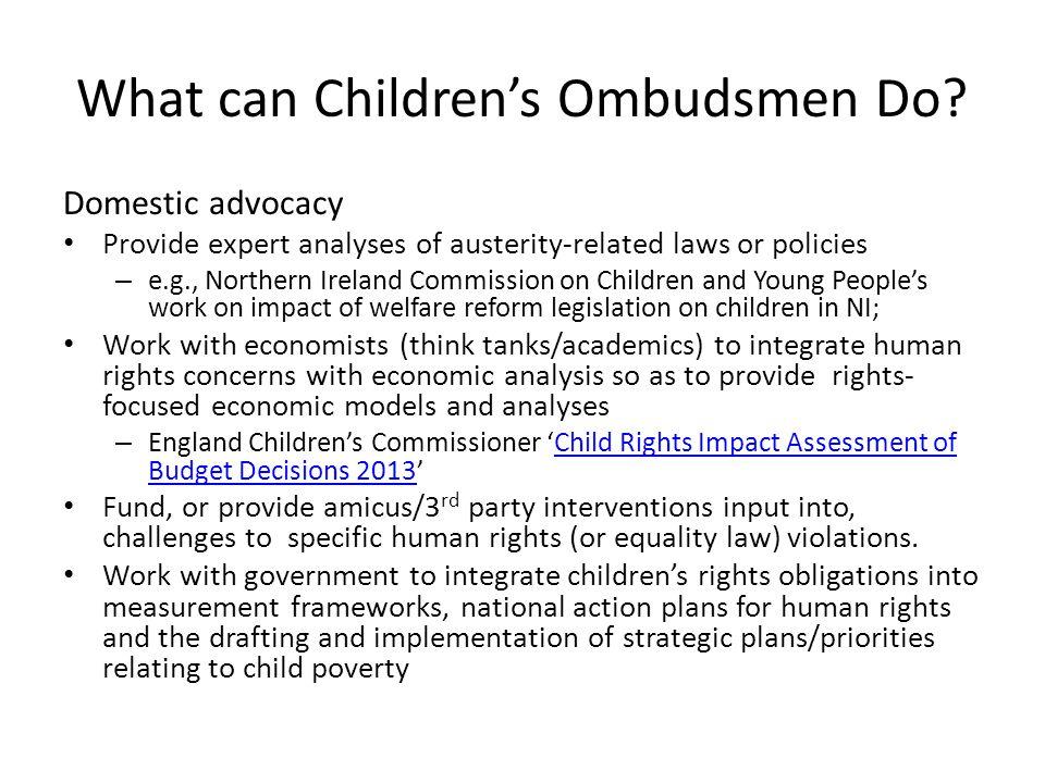 What can Children's Ombudsmen Do.