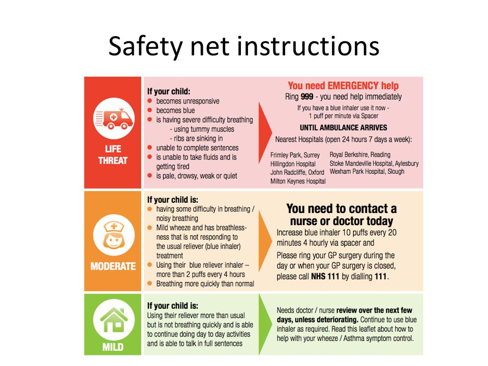 Safety net instructions