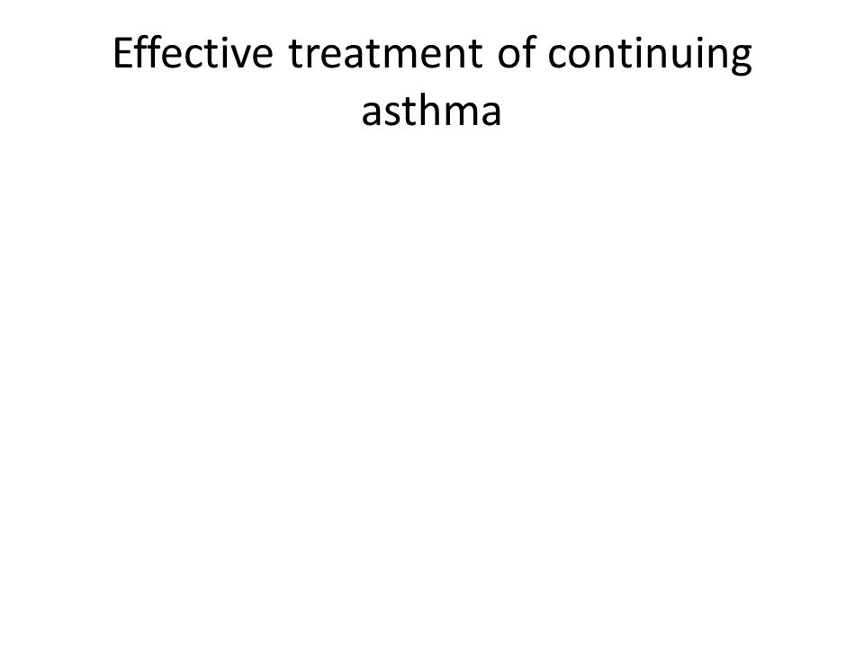 Effective treatment of continuing asthma