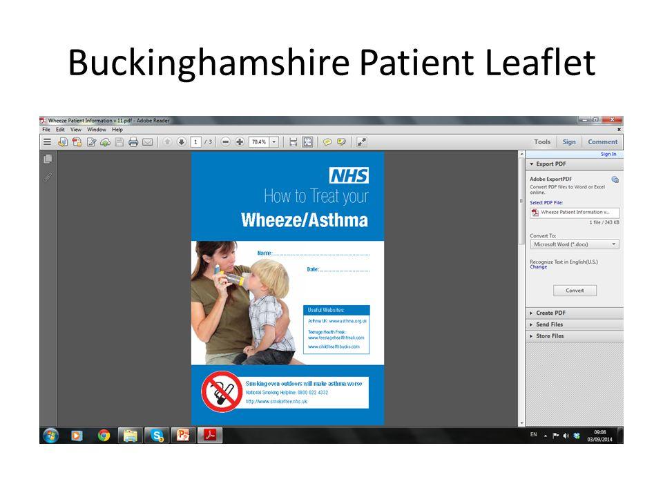 Buckinghamshire Patient Leaflet