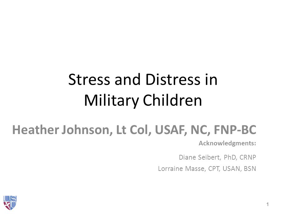 School personnel concerns Student uncertainty about deployment length Perceived mental health issues of the non- deployed parent – Contribution to difficulties at school Children from Guard/Reserve families – Lacked the social support network within their school (peers) who understood the military experience 62