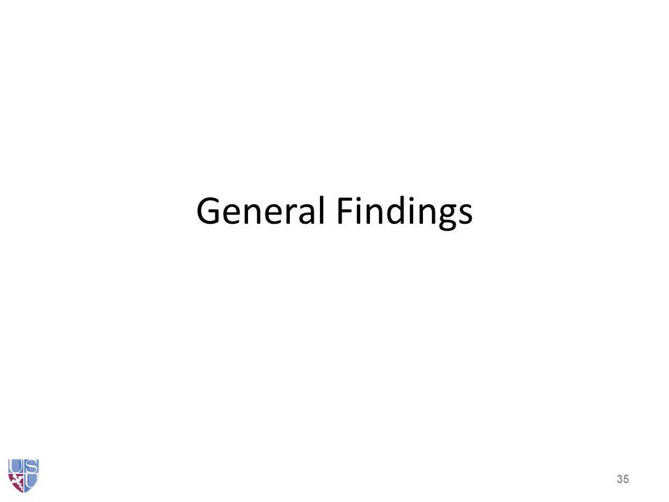 General Findings 35