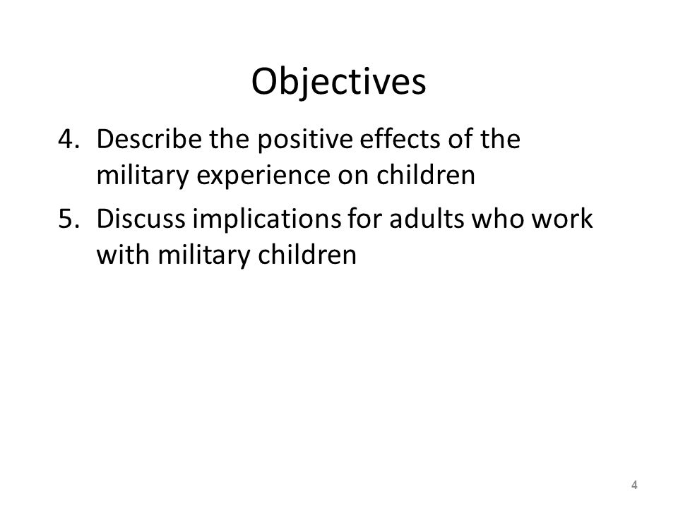 Age Differences and Deployment Infants have fewer behavioral changes than older toddlers and pre-schoolers Children age 3-5 tend to have more externalizing behaviors 115