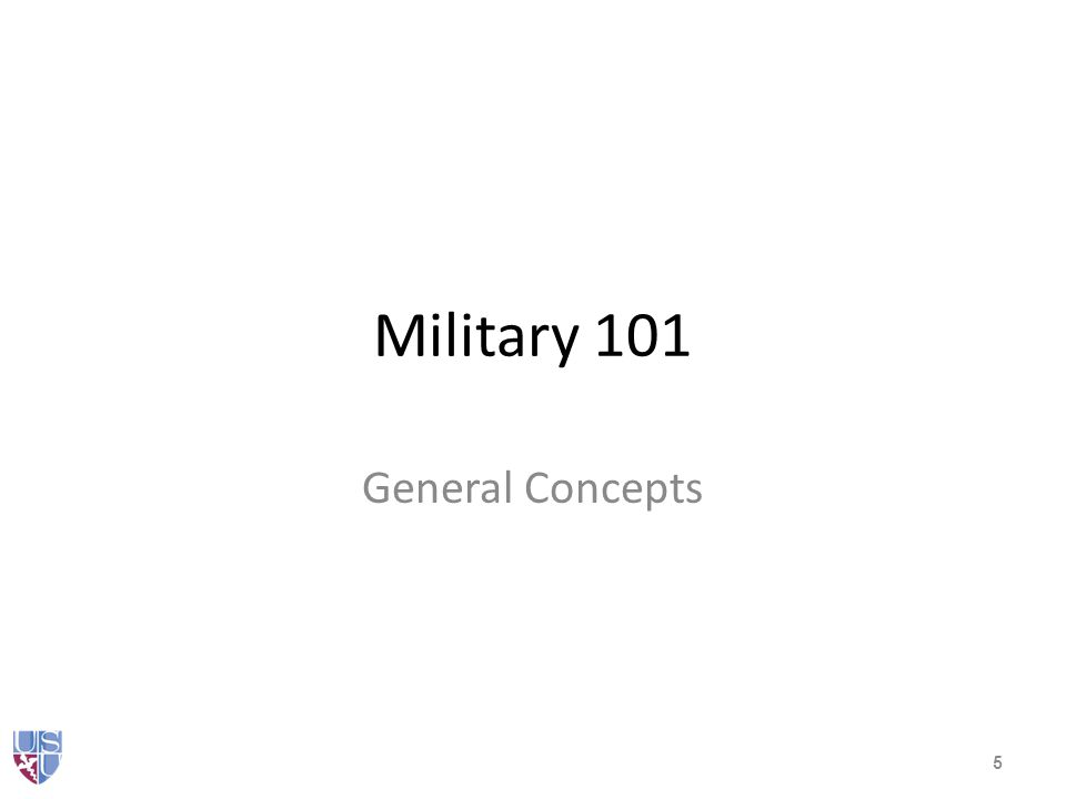 Military 101 The Department of Defense – Army – Navy Marines Coast Guard and Coast Guard Reserve – Air Force – Reserves and the National Guard All volunteer force 6