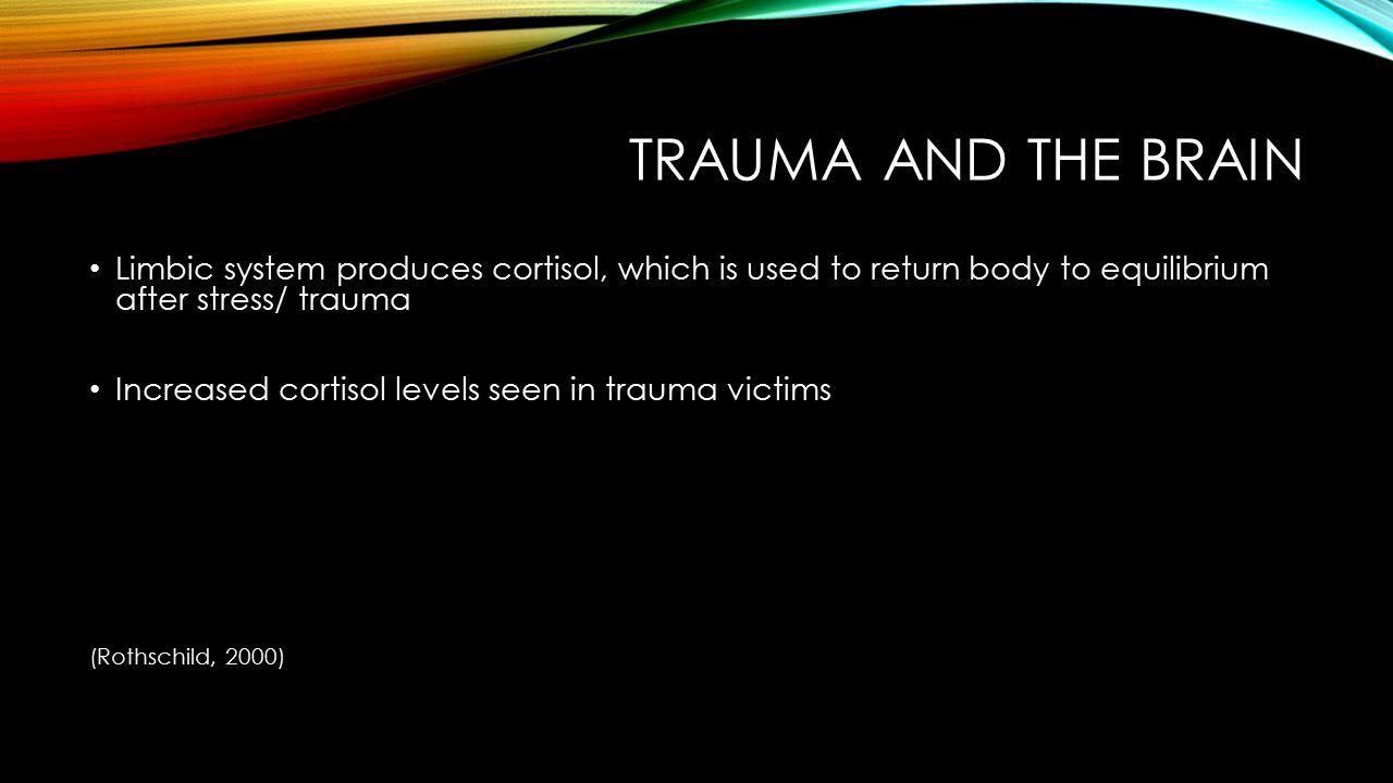 REFRAME AND INTEGRATE TRAUMATIC EXPERIENCE Telling one's story gives trauma survivors a voice Stories link past, present, and future Reparative nature to restory one's life (Malchiodi, 2008)