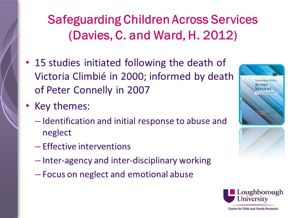 Safeguarding Children Across Services (Davies, C. and Ward, H.