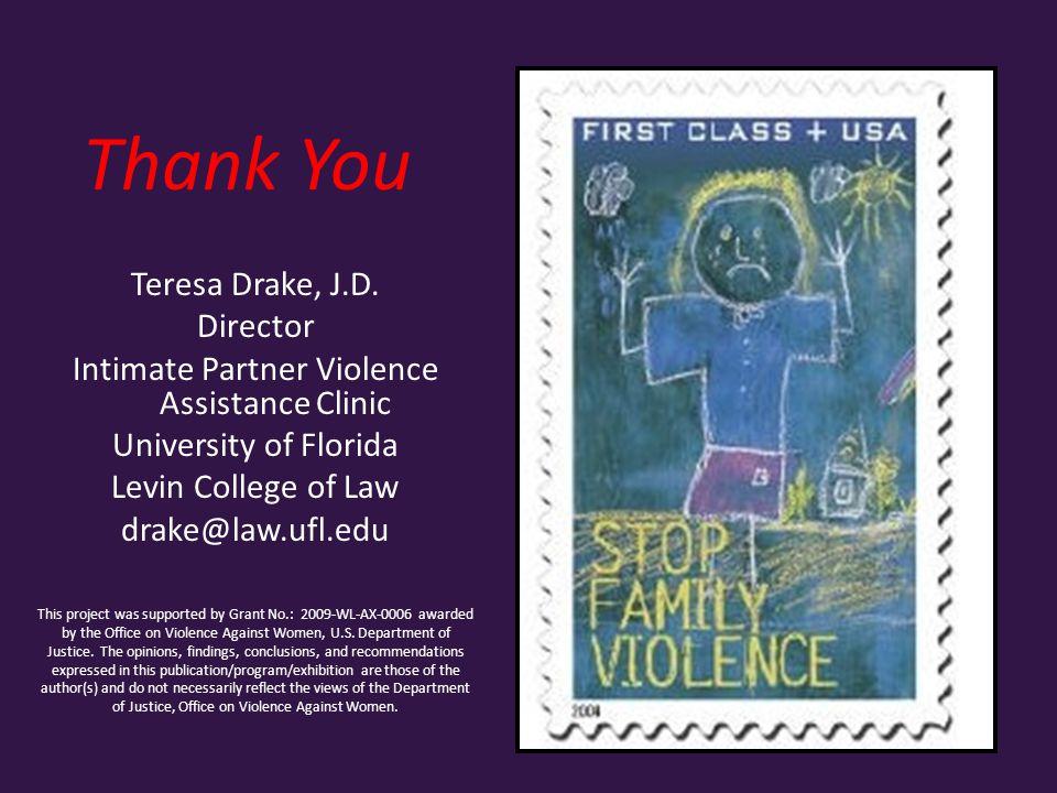 Thank You Teresa Drake, J.D.