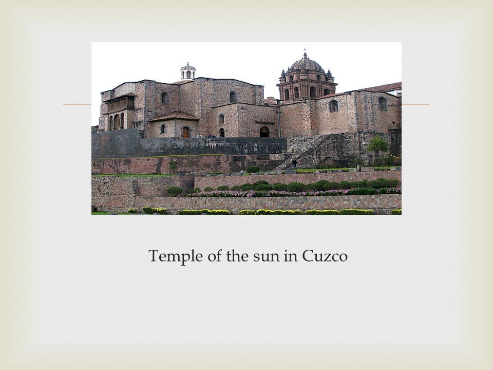  Temple of the sun in Cuzco