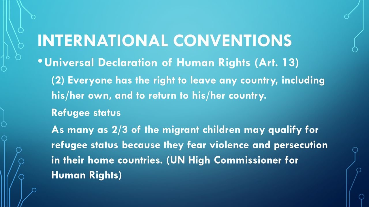 INTERNATIONAL CONVENTIONS Universal Declaration of Human Rights (Art.