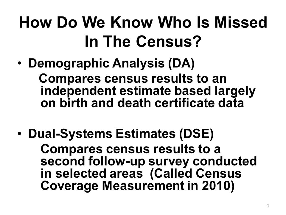 How Do We Know Who Is Missed In The Census.