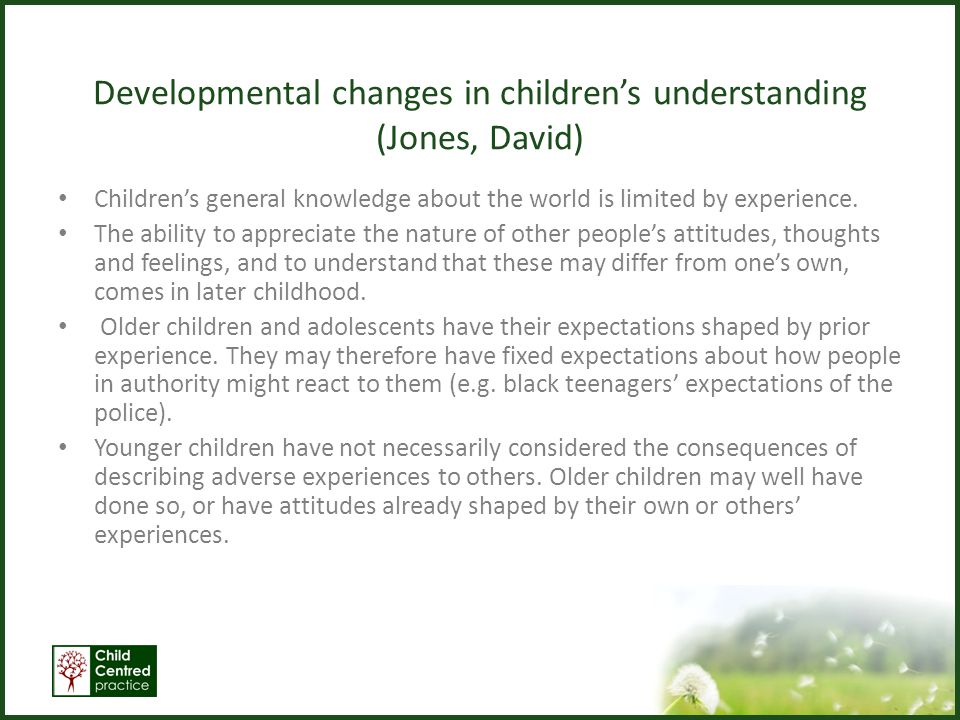 Butler and Williamson (1994) – Who do children talk to about their problems.
