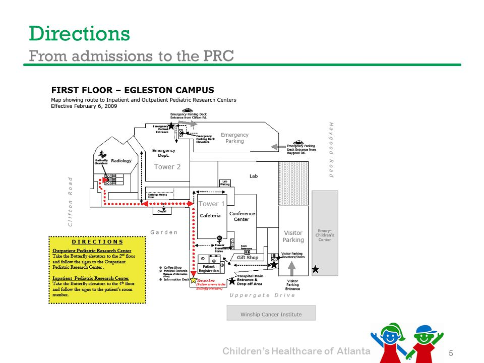 Children's Healthcare of Atlanta Directions From admissions to the PRC 5