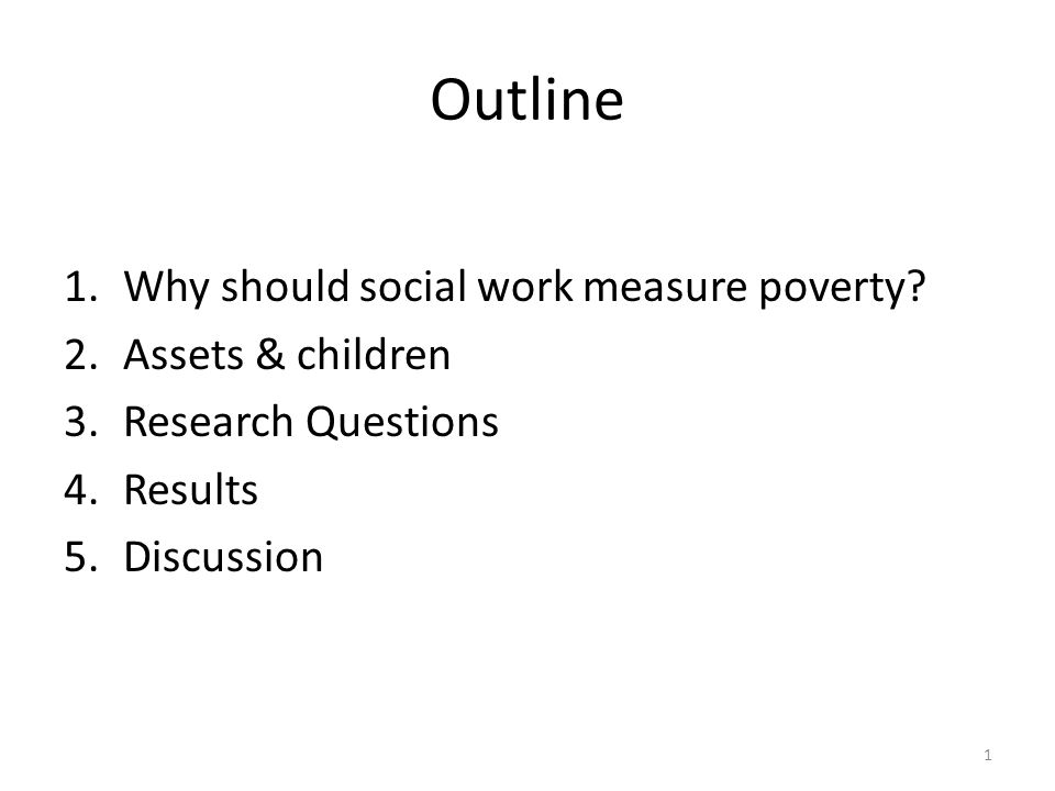 Why should social workers be concerned with the measurement of child poverty? 2