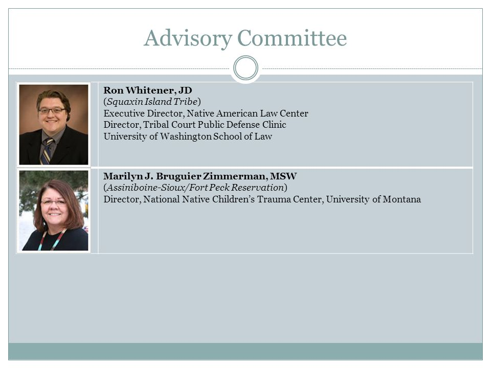 Advisory Committee Mandate The Charter mandated that members of the AI/AN Advisory Committee conduct up to four hearings and six listening sessions nationwide to learn from key practitioners, academicians, policymakers, and the public about the issue of AI/AN children exposed to violence in the United States and throughout Indian Country.