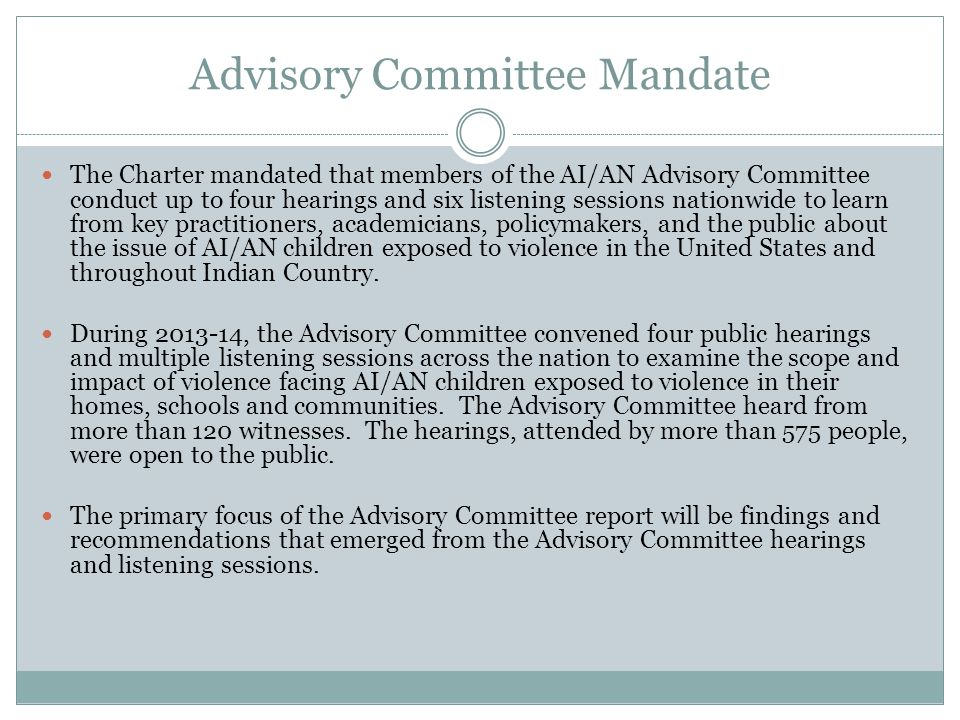 Two relevant prior reports The Advisory Committee report will build upon the record created by two highly relevant reports that preceded it.
