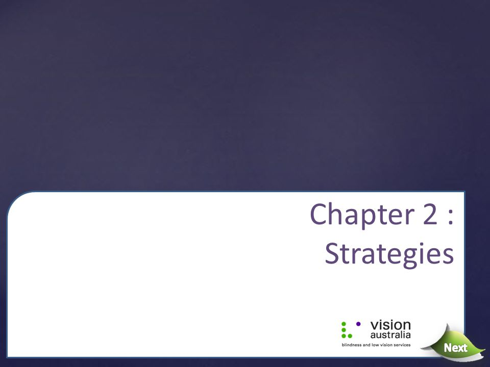 Chapter 2 : Strategies