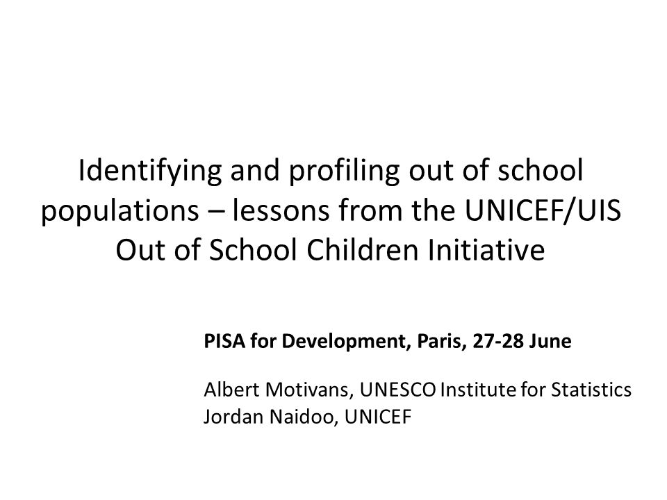 Slowdown in educational progress Number Number of primary school-aged children out of school, 2000- 2011