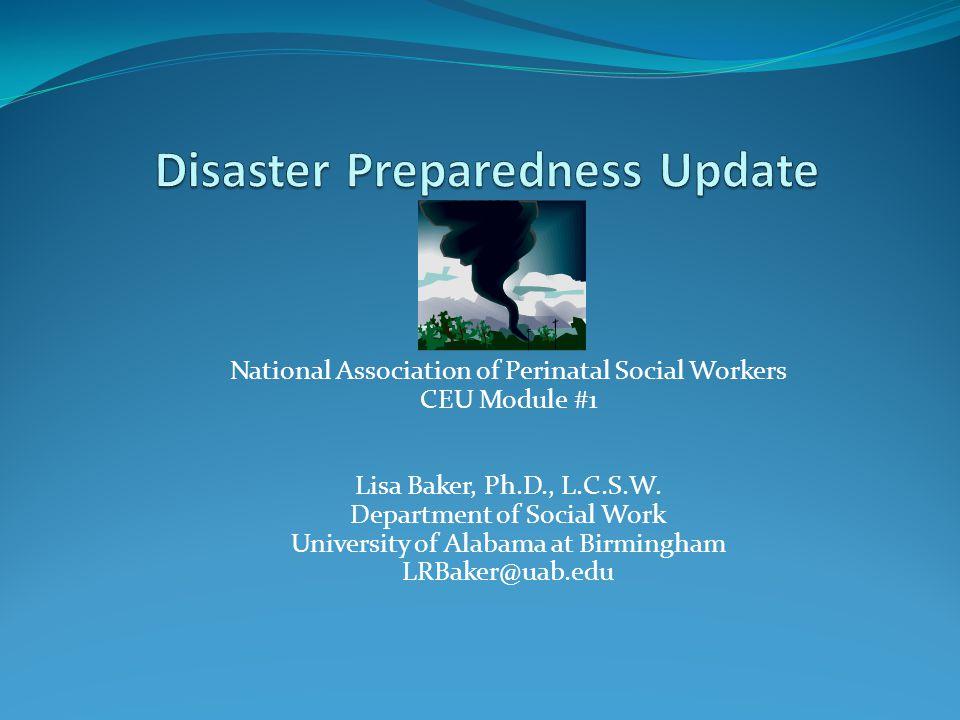 National Association of Perinatal Social Workers CEU Module #1 Lisa Baker, Ph.D., L.C.S.W. Department of Social Work University of Alabama at Birmingh