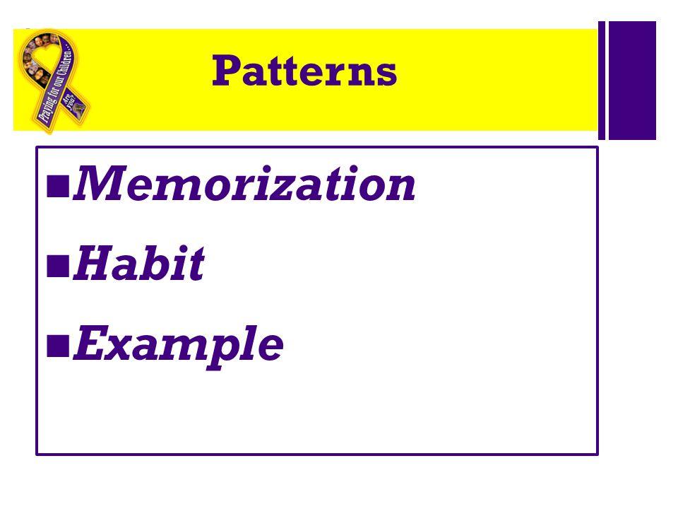 + Patterns Memorization Habit Example