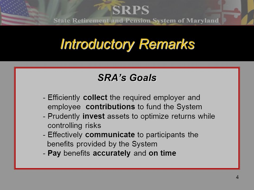 45 Re-employment After Retirement Introduction In general, retirees returning to work with a participating employer in SRPS may be subject to an earnings limitation and a reduction in monthly benefits.
