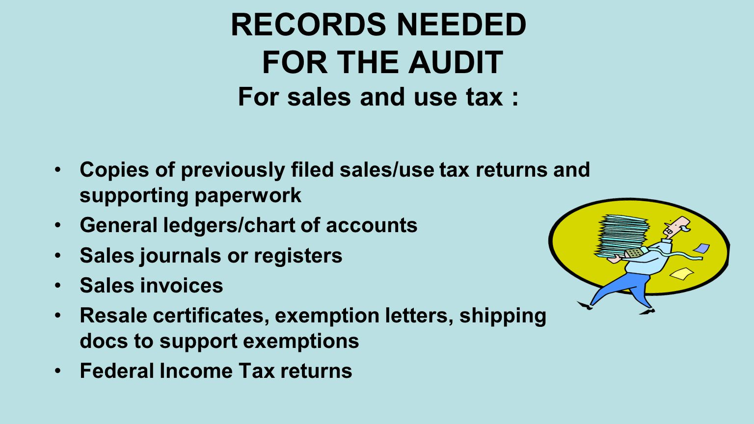 State of nevada department of taxation the audit ppt download 7 records needed for the audit for sales and use tax 1betcityfo Choice Image