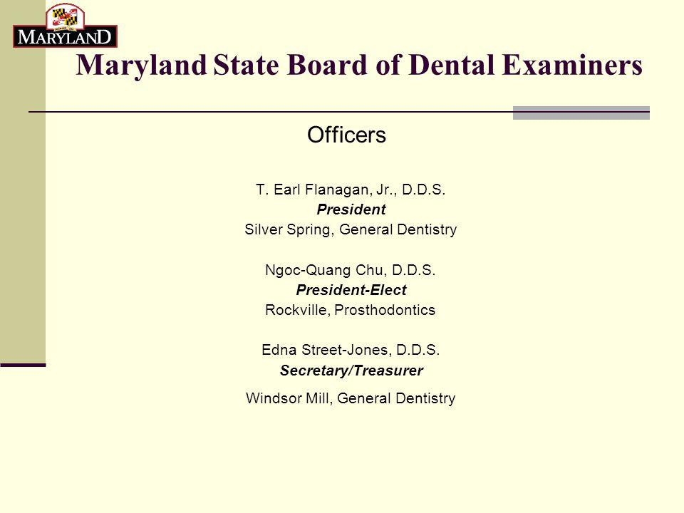 Dental Examiners Continued…  Alberto Alejandro, D.M.D.