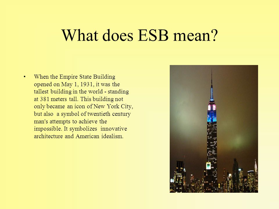What does ESB mean.