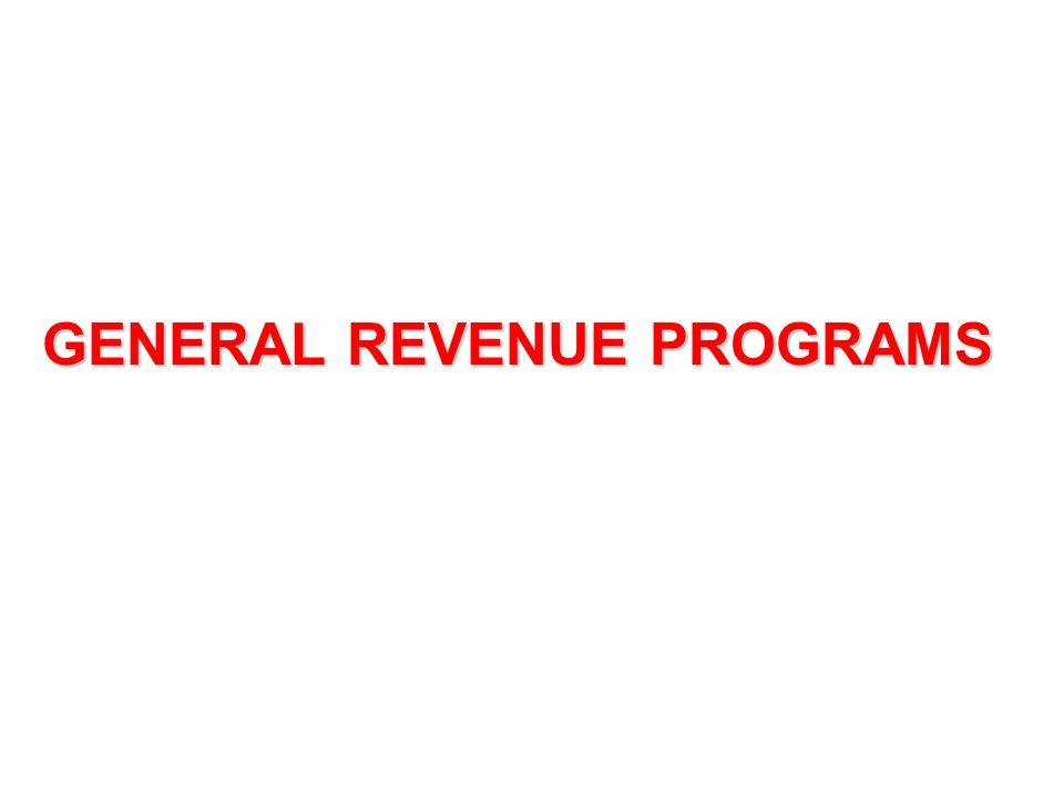 GENERAL REVENUE PROGRAMS