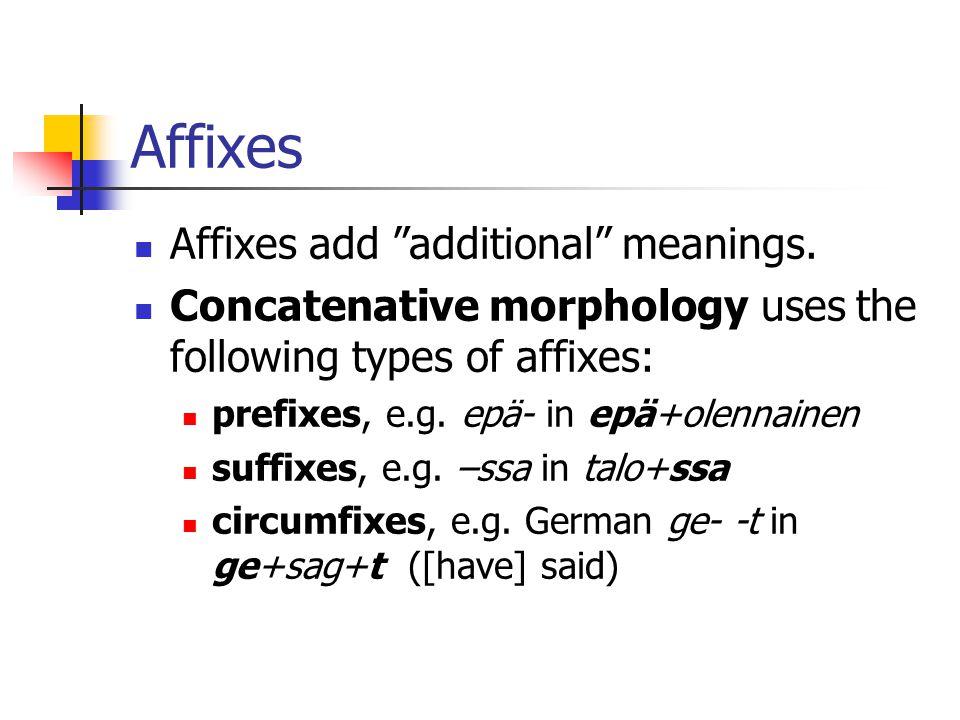 Combination of FSTs (3) iksses Surface iks#s^s iks +3SG Lexical +Vs Lexicon-FST Rule1-FSTRuleN-FST...