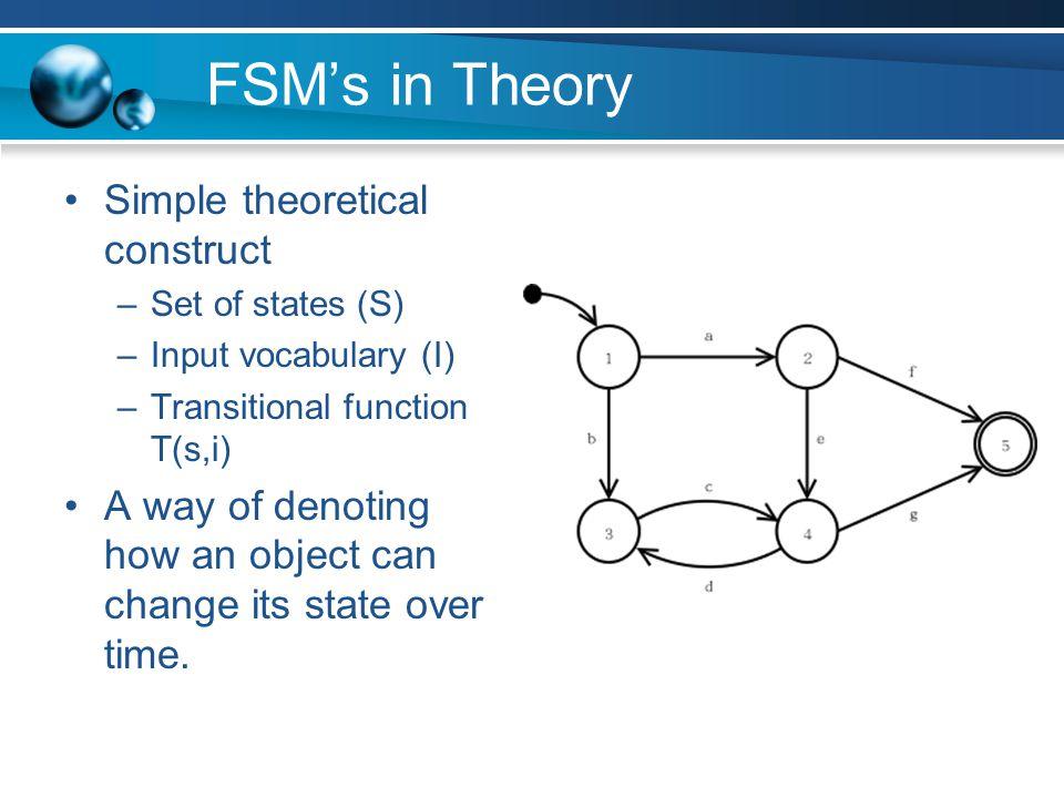 FSM's in Practice Each state represents some desired behavior.