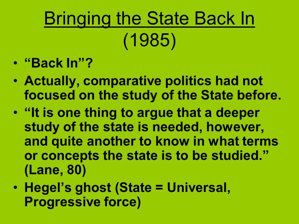 Bringing the State Back In (1985) Back In .