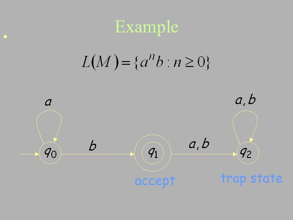Example accept trap state