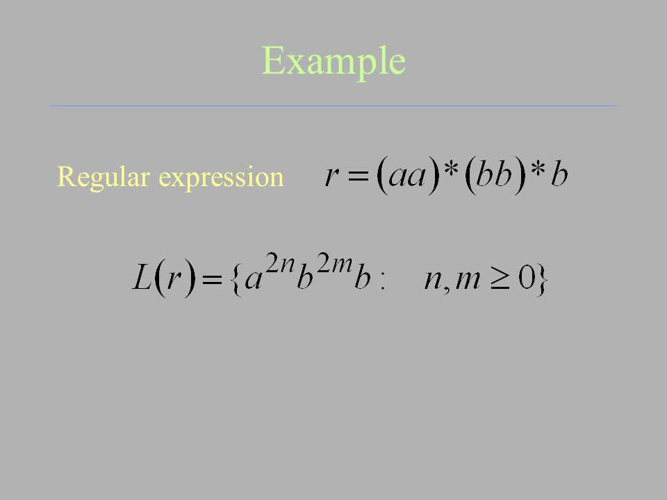 Example Regular expression