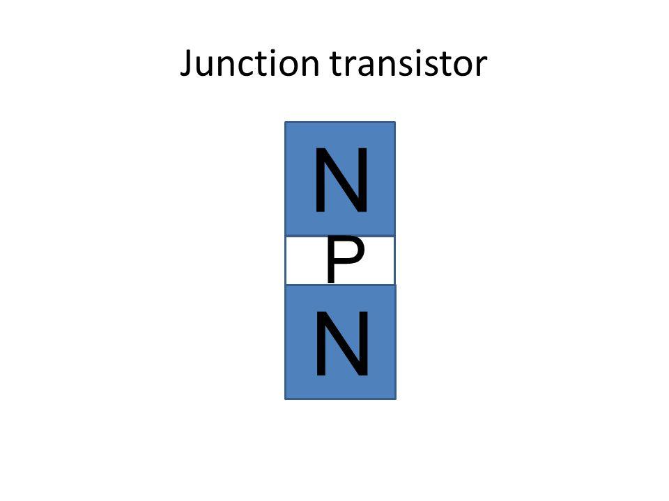 Junction transistor N N P