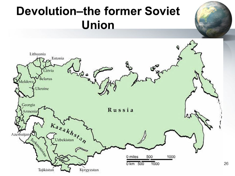 26 Devolution–the former Soviet Union
