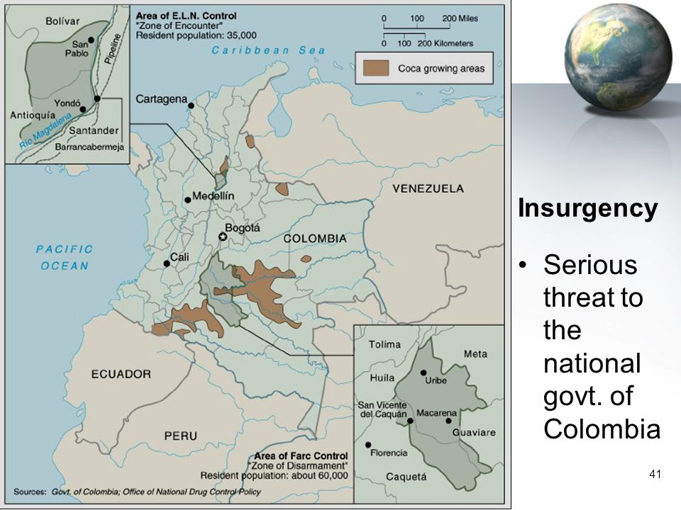 41 Insurgency Serious threat to the national govt. of Colombia
