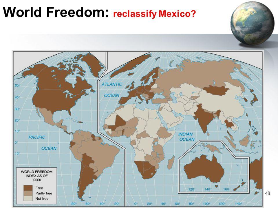 48 World Freedom: reclassify Mexico?
