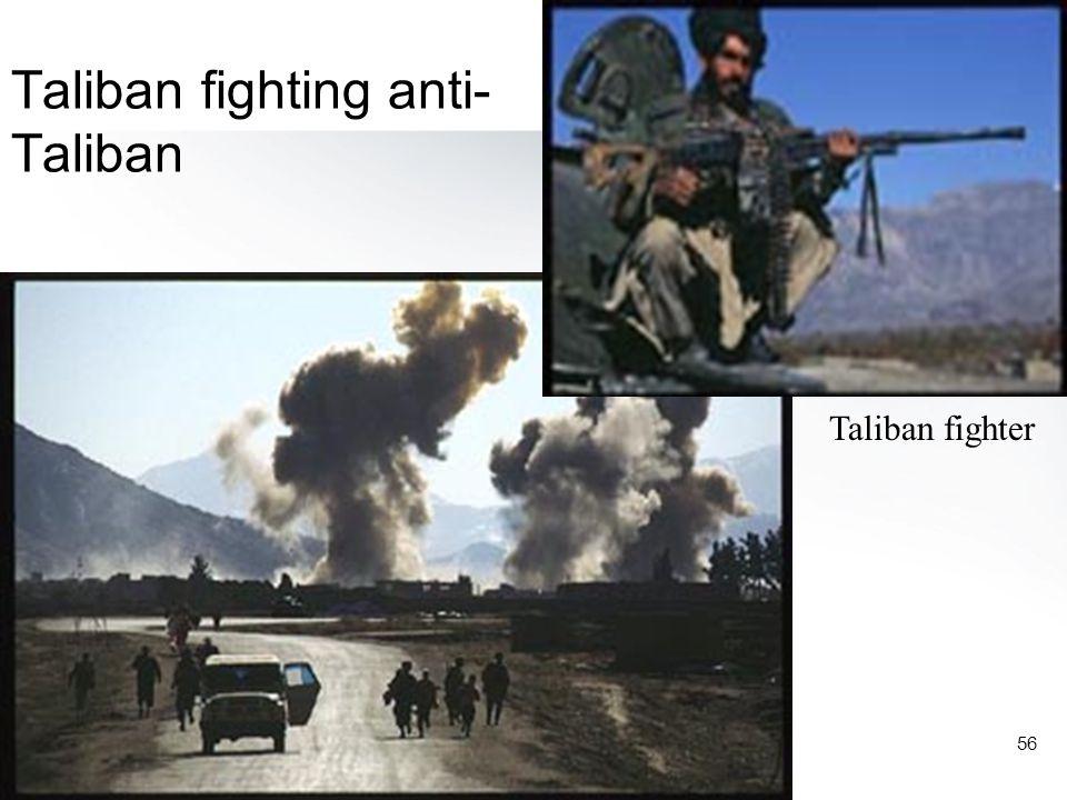 56 Taliban fighting anti- Taliban Taliban fighter