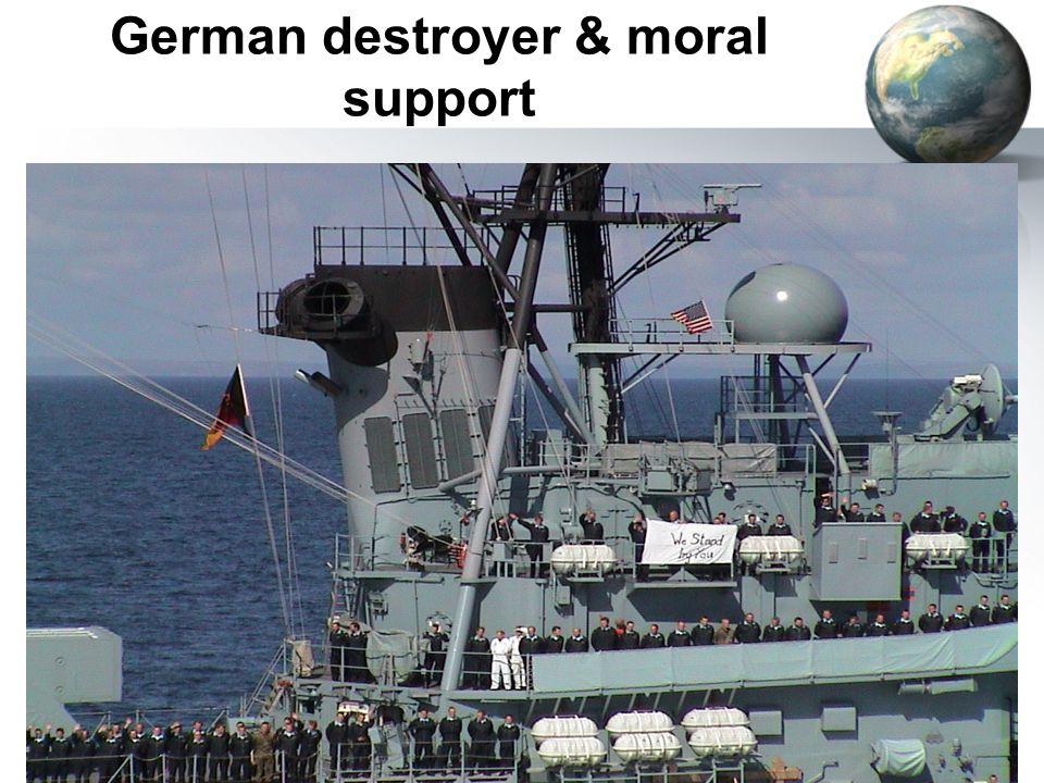 60 German destroyer & moral support
