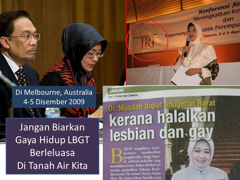 Usaha Mempromosi Homoseksual Dia Mendapat Pelbagai Anugerah Barat