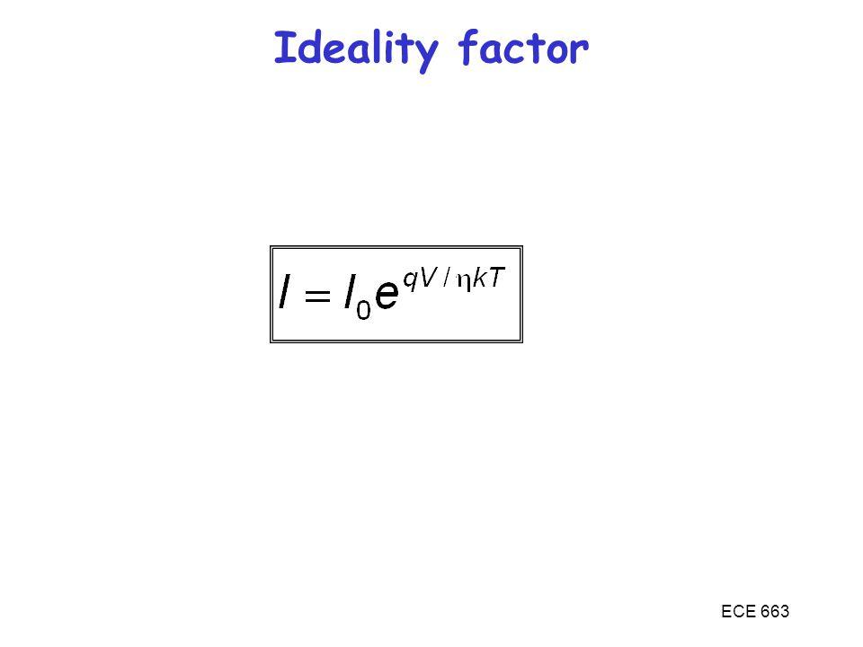 ECE 663 Ideality factor